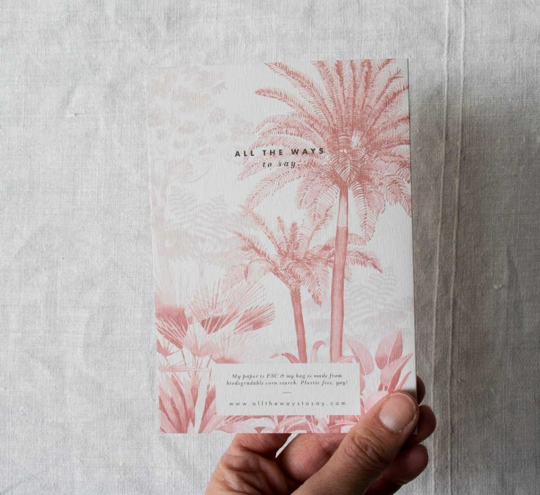 Carte - Pink forest All the ways to say - Maison mathuvu