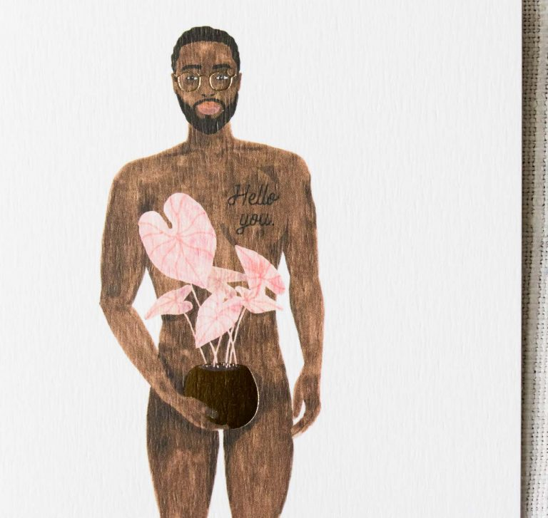 Carte - Naked boy with a plant All the ways to say - maison mathuvu