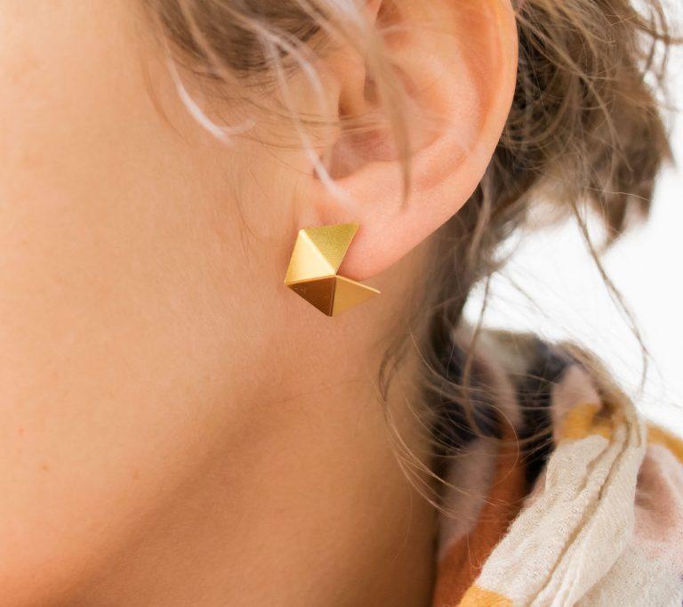 Boucles d'oreilles - Cubism Post Shlomit ofir - maison mathuvu