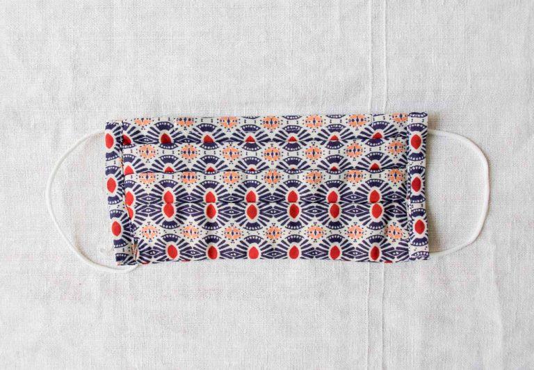 Masque barrière 3 plis - Rosace Maison mathuvu