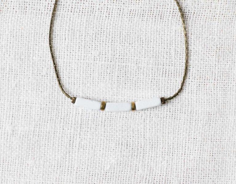Bracelet - Toan blanc Minikho - maison mathuvu