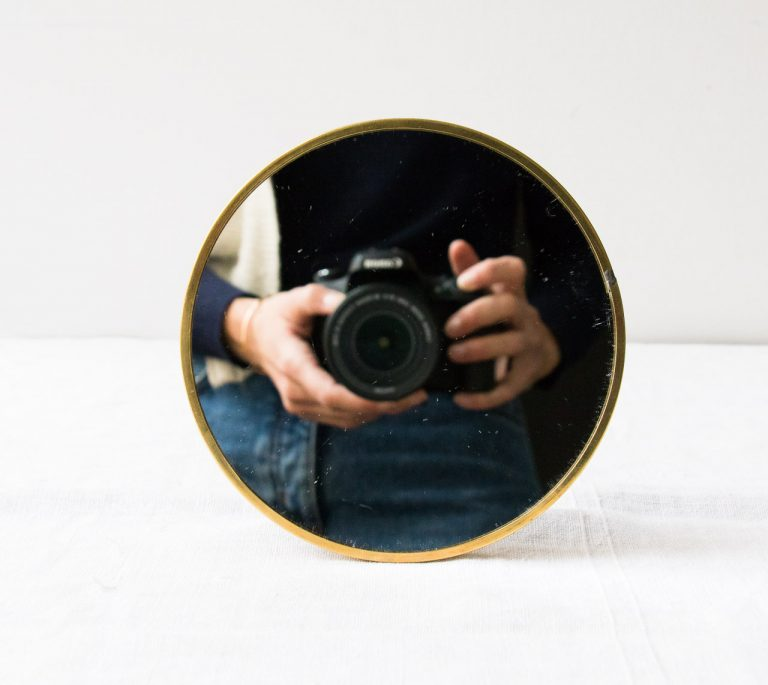 Miroir rond à poser Chehoma - maison mathuvu