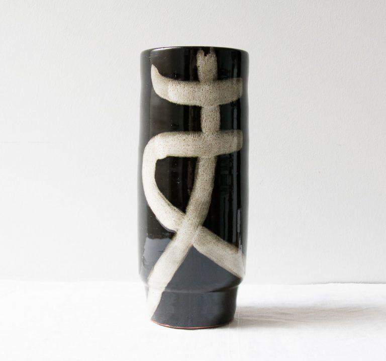 Vase noir et blanc - Vefa Bloomingville - maison mathuvu