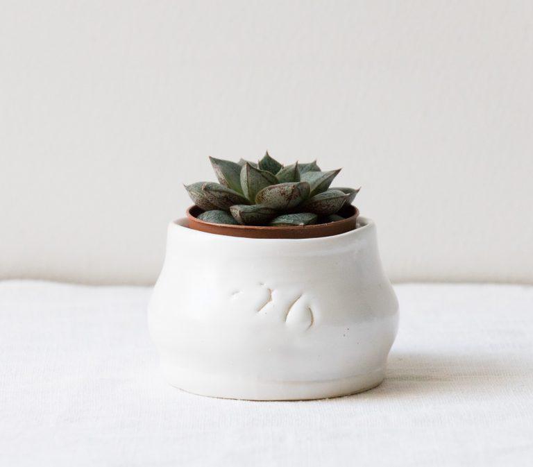 Cache-pot mini blanc - Brut Maison mathuvu