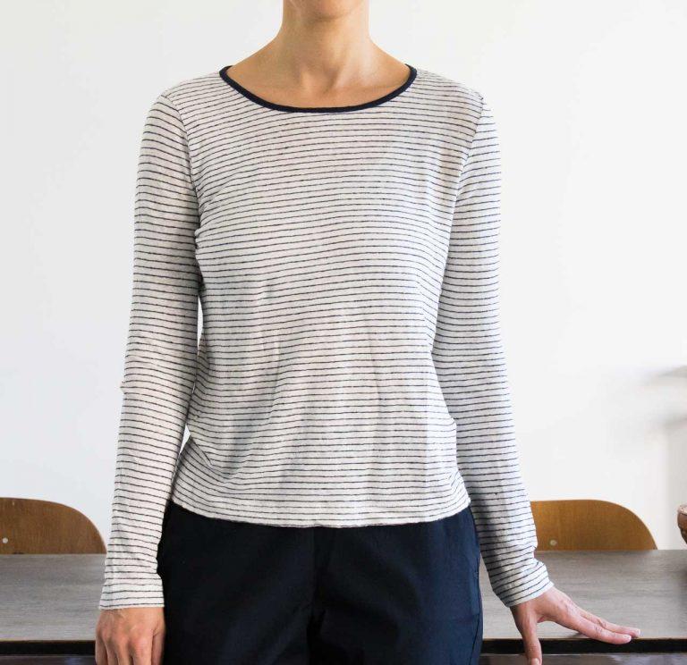 T-Shirt - Linen stripes ese o ese - maison mathuvu