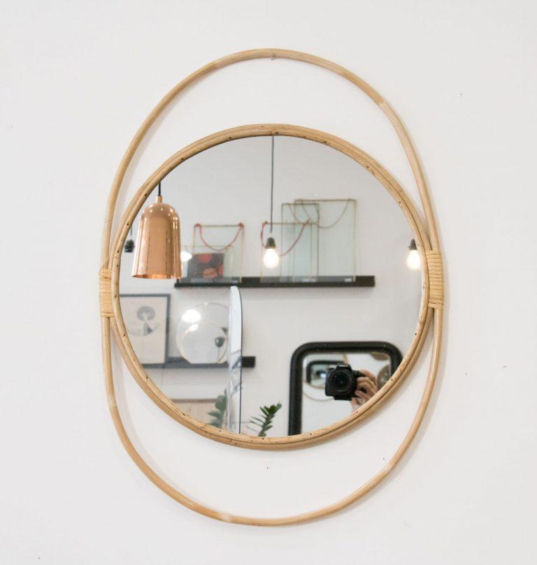 Miroir rotin Chehoma - maison mathuvu