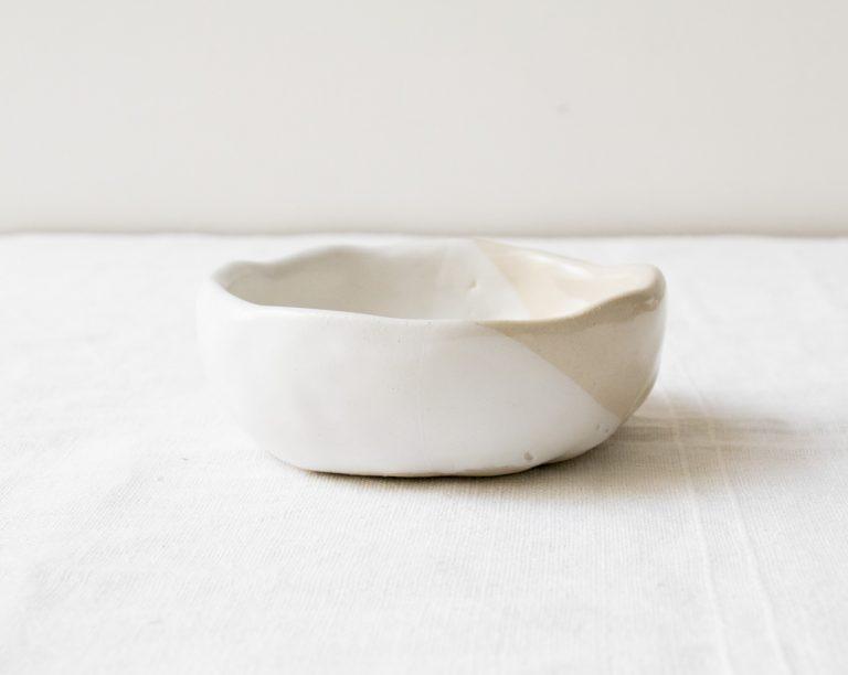 Coupelle bi-colore Loun - Blanc Maison mathuvu