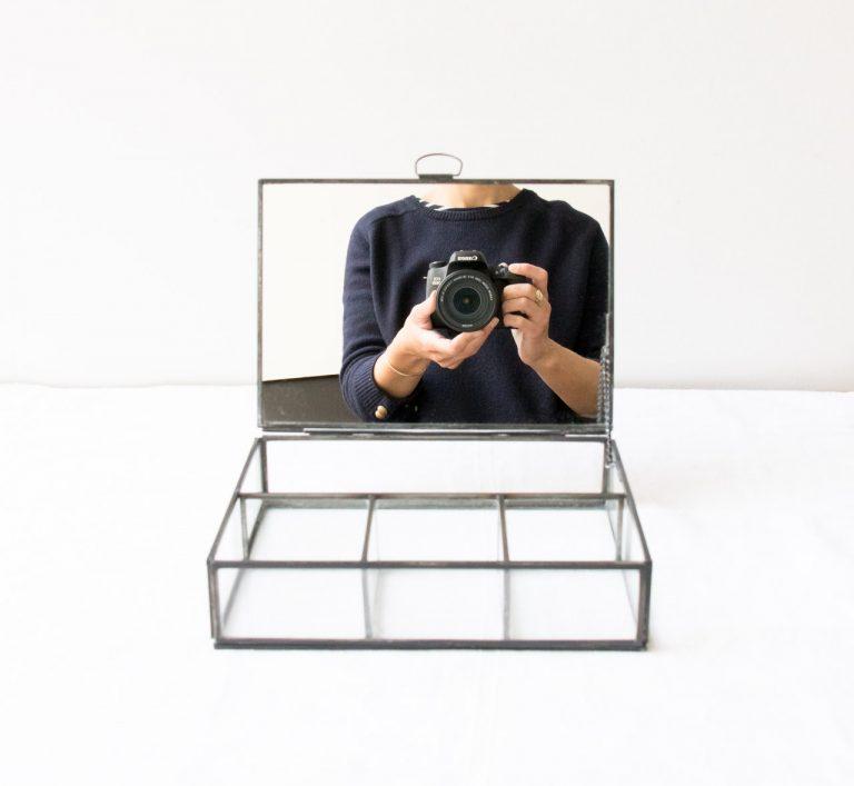Boîte à bijoux - Miroir noir Chehoma - maison mathuvu