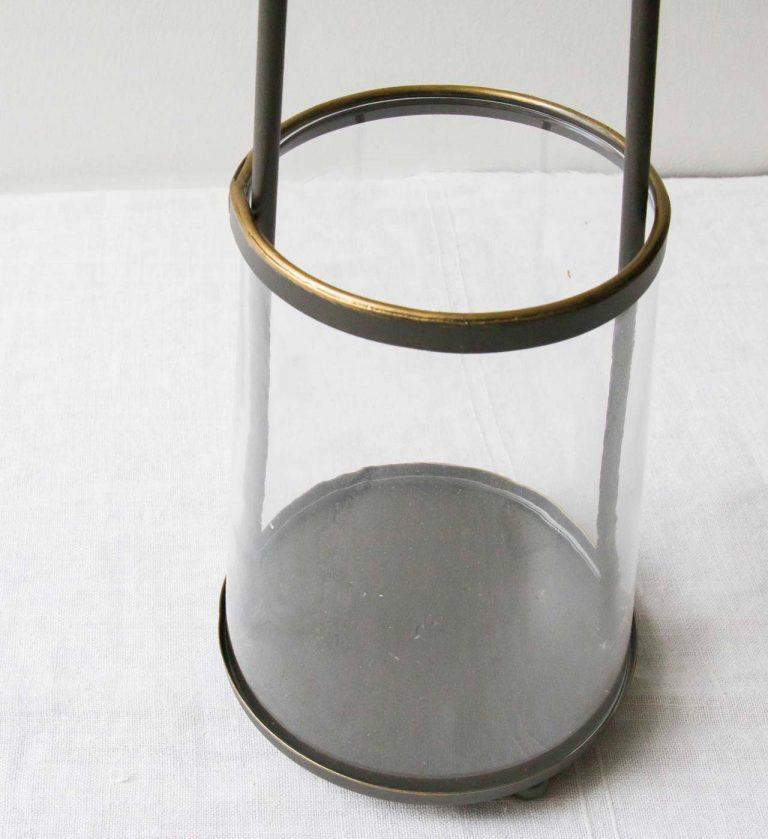 Photophore laiton et verre Chehoma Maison Mathûvû