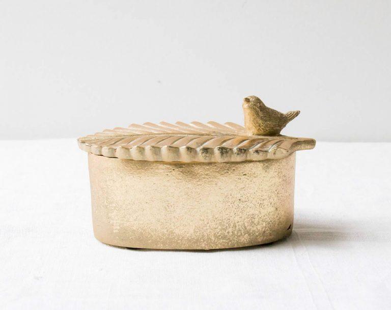 Boîte ovale - Oiseau Chehoma Maison Mathûvû