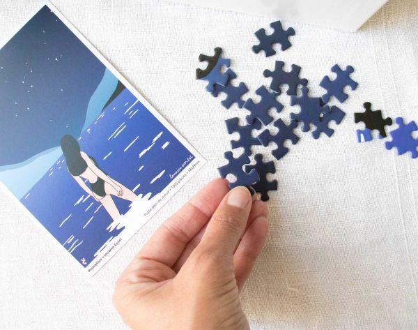 Puzzle - Bain de minuit Piece & love - maison mathuvu