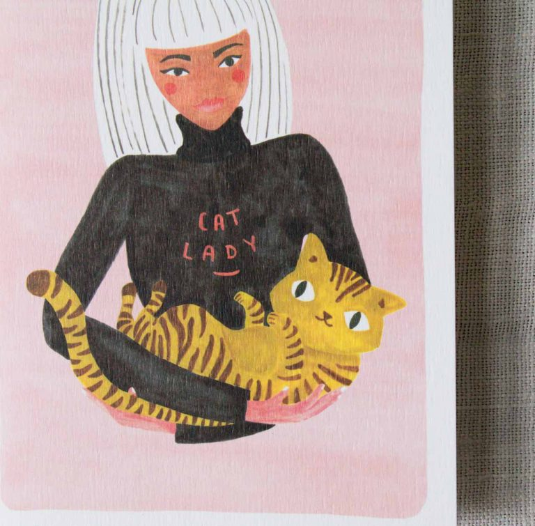 Carte - Cat lady Rifle paper co Maison mathuvu