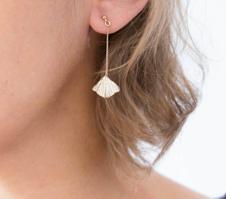 Boucles d'oreilles - Chaîne Ginkgo Nadja carlotti - maison mathuvu