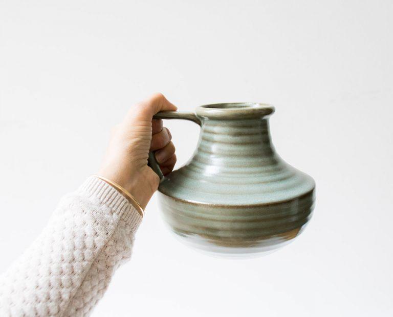 Vase anse - Menthe Madam Stoltz - maison mathuvu