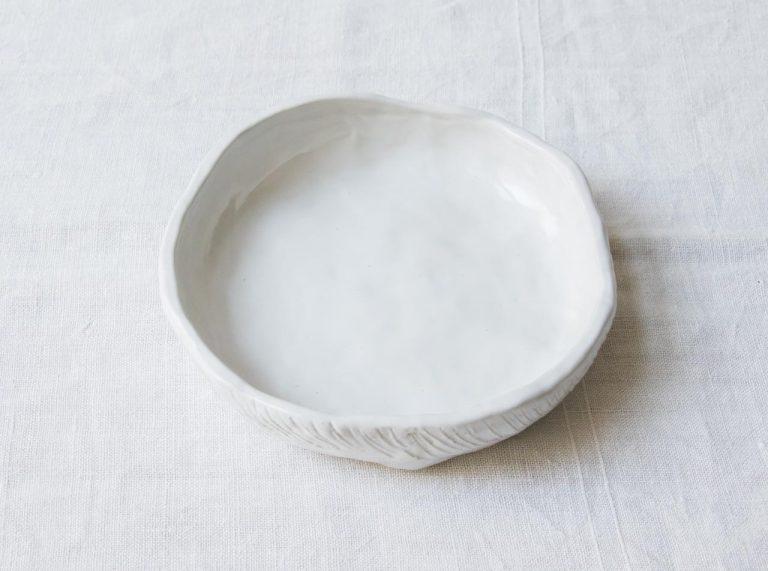 Plat rond Tray - Blanc Maison mathuvu