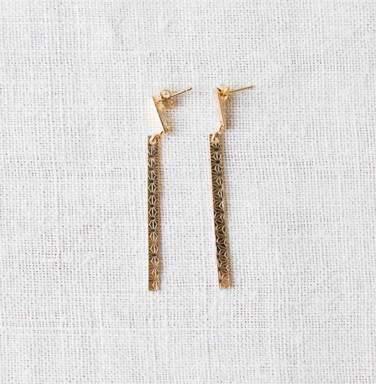 Boucles d'oreilles - Line Exquises indécises - maison mathuvu