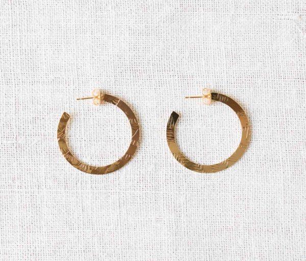 Boucles d'oreilles Créoles - Mun Exquises indécises - maison mathuvu