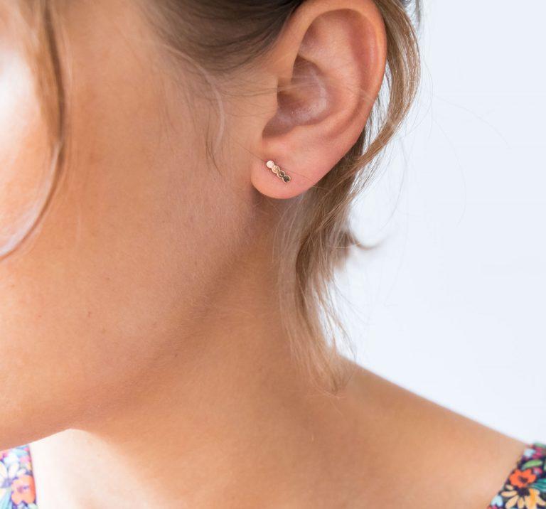 Boucles d'oreilles Puces - Constellation Exquises indécises - maison mathuvu
