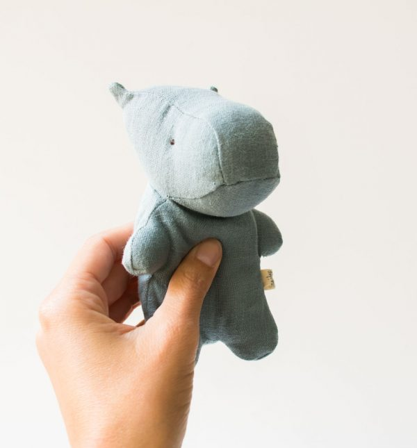 Peluche mini Hippo - Bleu Maileg - maison mathuvu