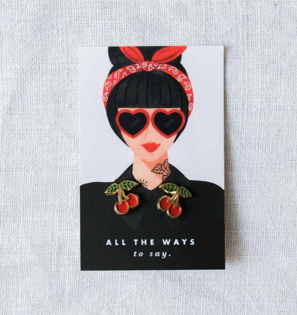 Pin's - Cherries all the ways to say - maison mathuvu
