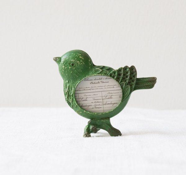 Porte-photo - Oiseau vert chehoma - maison mathuvu