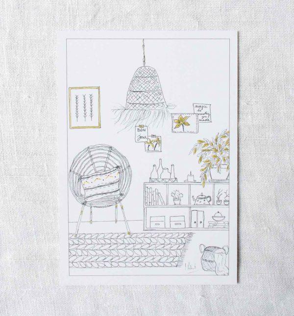 Carte - Petit salon Laurence Paris - maison mathuvu