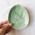 Assiette Savanna - Feuille vert amande Bloomingville - maison mathuvu