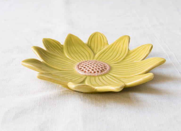 Assiette Savanna - Fleur jaune Bloomingville - maison mathuvu