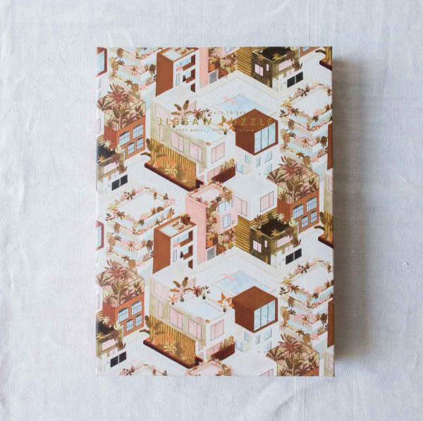 Puzzle - City terracotta all the ways to say - maison mathuvu