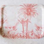 Plateau rectangulaire - Pink forest all the ways to say - maison mathuvu