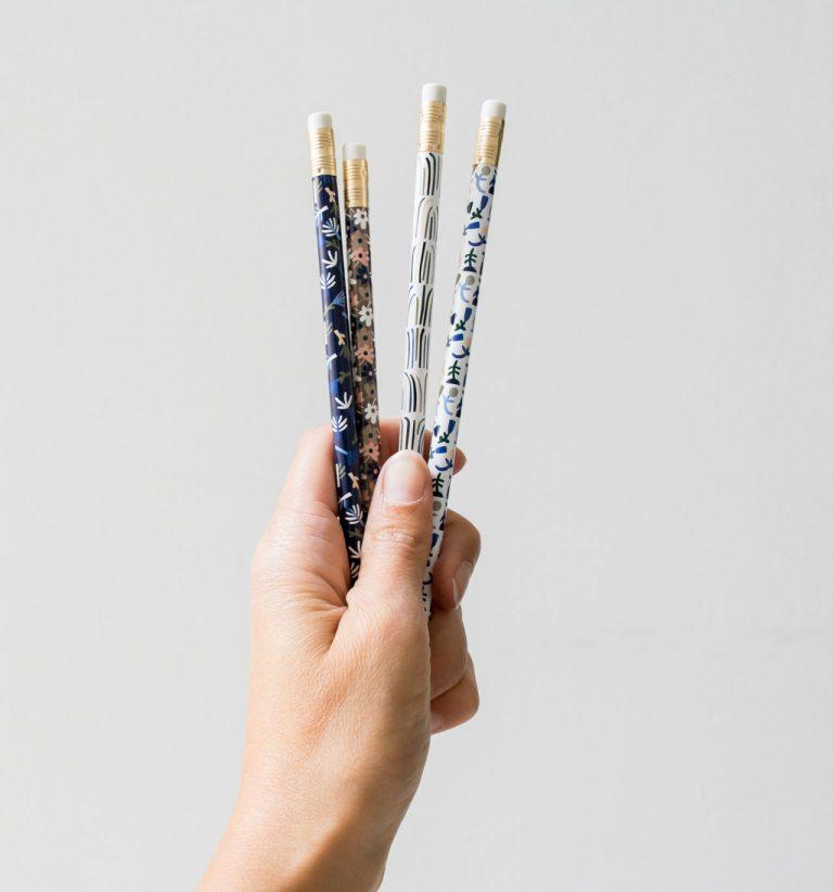 Set de 4 crayons - Botanic maison ours - maison mathuvu