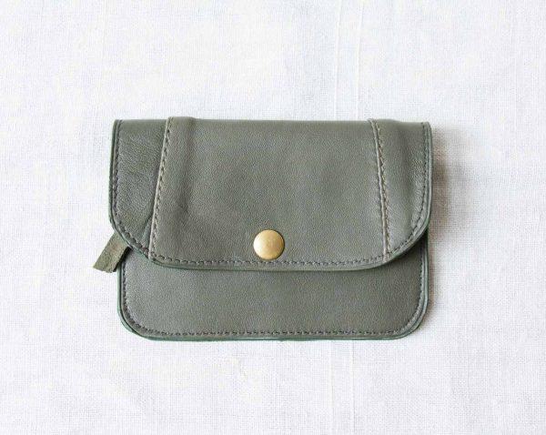 Porte-monnaie N°7 - Olive maison mathuvu X Xa