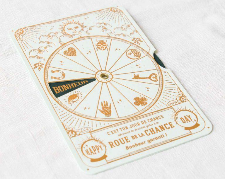 Carte Roue de la chance - Vert Les éditions du paon - maison mathuvu