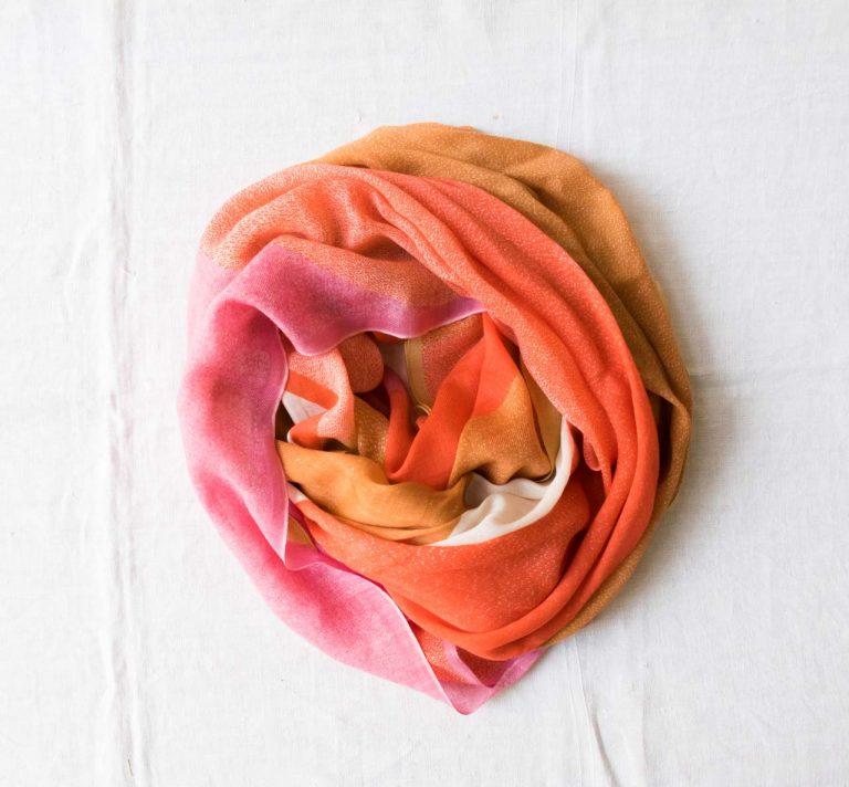 Foulard Fusion - Orange Ma poésie - maison mathuvu