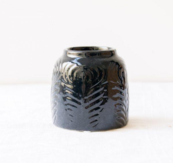 Vase - Itiel noir bloomingville - maison mathuvu